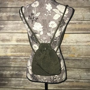 THE SAK Small Backpack olive green knit